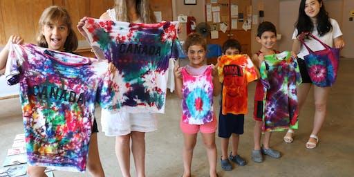 Tie Dye a Shirt Art Class for Kids age 5 - 13 November/December 2019