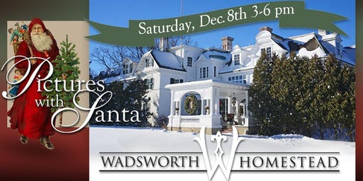 Pictures with Santa At The Wadsworth Homestead