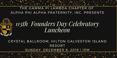 Alpha Phi Alpha Founder's Day Luncheon