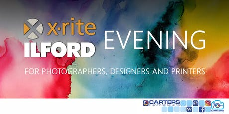 X-Rite & Ilford Evening with Carters Photographics tickets