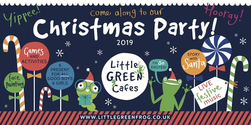 Christmas Party, Little Green Frog Play Cafe, Lichfield (Sunday 22nd, Tuesday 24th of Dec 2019)
