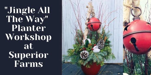 Jingle All The Way Planter Workshop $95 (+tax)