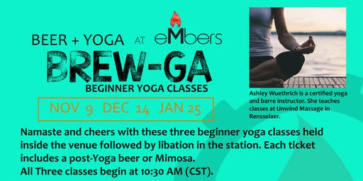 Beer + Yoga = Brew-Ga at eMbers