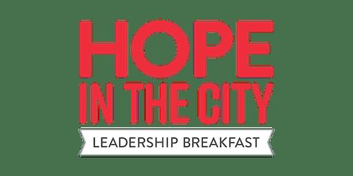 Hope in the City Leadership Breakfast