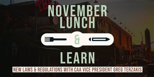 Income Property Lunch and Learn: New Laws and Regulations