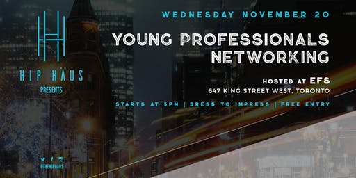 Young Professionals Networking by The Hip Haus - Nov 20th, 2019
