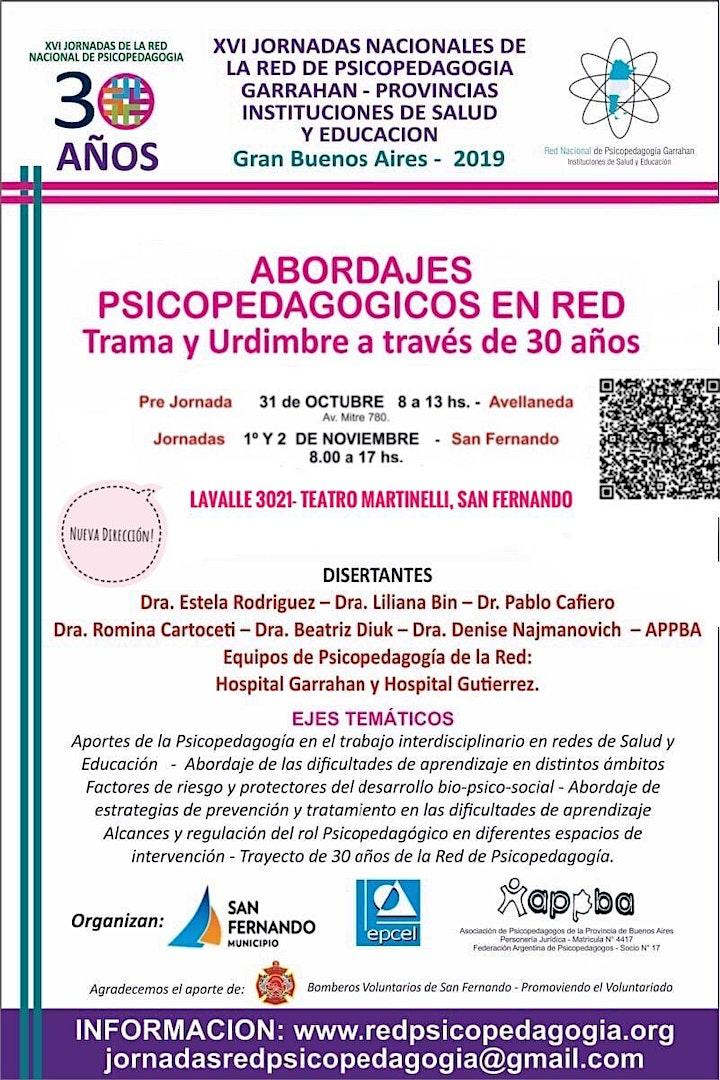 Imagen de XVI JORNADAS NACIONALES DE LA RED DE PSICOPEDAGOGIA GARRAHAN- PROVINCIAS