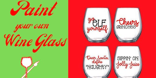Paint your Own Holiday Wine Glasses