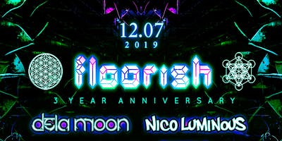 Floorish 3 Year Anniversary feat. Dela Moon, Nico Luminous & Friends