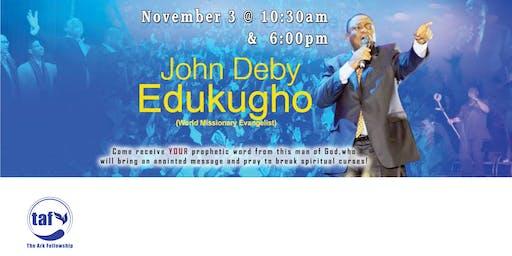 Guest Speaker: John Deby Edukugho