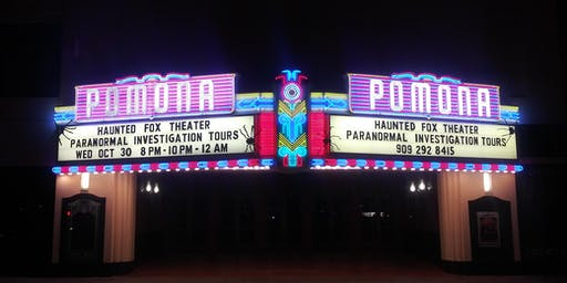 Haunted Fox Theater Pomona Midnight show