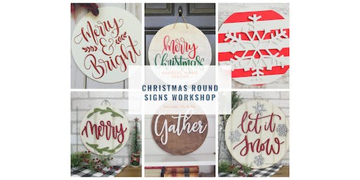 Christmas Round Sign Workshop