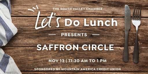 Let's Do Lunch: Saffron Circle