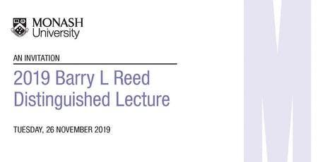 2019 Barry L Reed Distinguished Lecture tickets