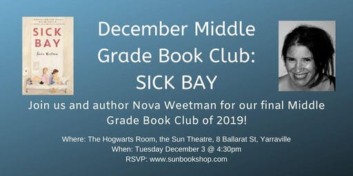 December Middle Grade Book Club - Sick Bay (AUTHOR ATTENDING)