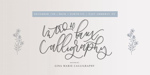 Faux Calligraphy/ Handlettering Workshop 101 [brunch edition]