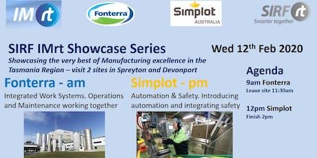 VICTAS IMRt SIRF Showcase Series - Fonterra Spreyton & Simplot Devonport tickets