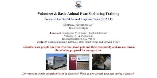 Volunteer & Basic Animal Evac Sheltering Training