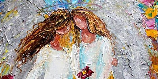 Colorful Textured Duo of Angels Painting Class - Mount Ulla