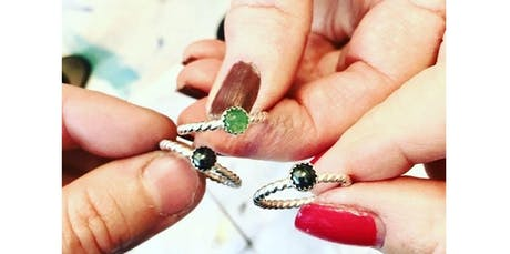 Silver & Stones: Silver Stacking Rings Workshop, Soldering and Stone Setting for Beginners  (12-16-2019 starts at 11:00 AM) tickets