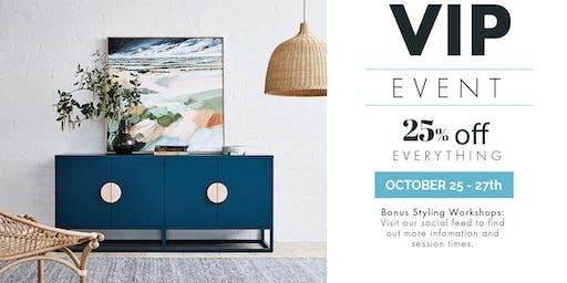 keekï VIP Event | Furniture, Homewares, Lighting, Bedding, Dining & More SALE + Interior Styling Workshops