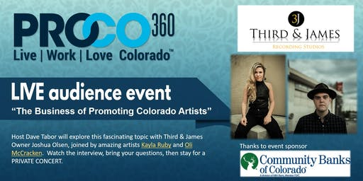 ProCO360 LIVE:  The Business of Promoting Colorado Artists, with Concert!