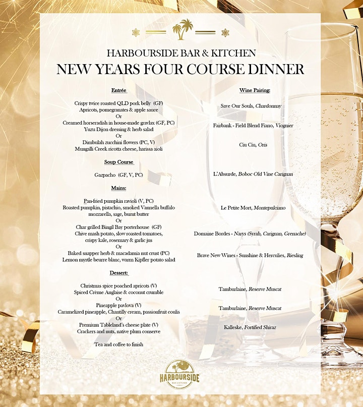 New Years Eve 4-Course Dinner with Paired Wines at HB&K image