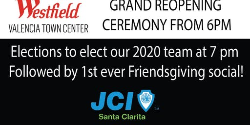Westfield Grand Opening, Elections and Friendsgiving Social