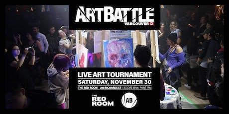 Art Battle Vancouver - November 30, 2019 tickets