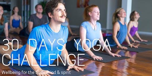 30 Day Yoga Wellbeing Challenge: Body, Mind & Spirit