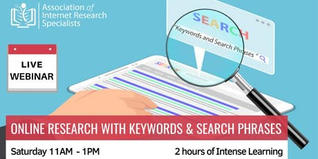 Online Research with Keywords and Search Phrases tickets
