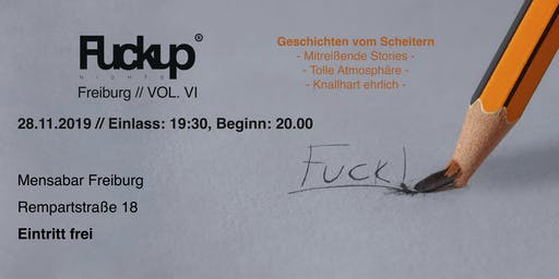 FuckUp Nights Freiburg Vol. VI