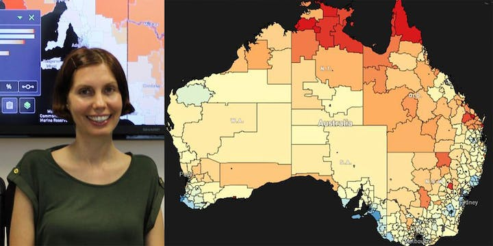 Susanna Cramb and Cancer Map of Australia