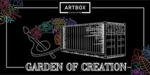 ARTBOX GOC (15 November)- Aida Haron: Watercolour Hand-stamped Panel