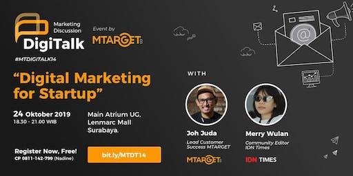 """DigiTalk Vol. 14: """"Digital Marketing for Startup"""""""