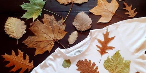 Print T-shirt using Leaves