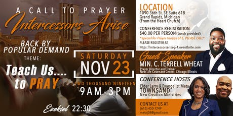 INTERCESSORS ARISE GRAND RAPIDS NOV. 23, 2019 tickets