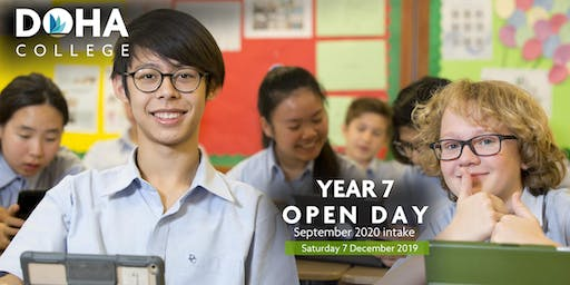 Doha College Year 7 Open Day  - September 2020  Intake