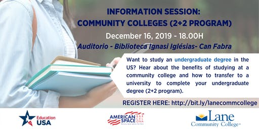 Community Colleges (Programa 2+2) Info Session