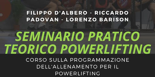 Seminario NERD TRAINING CENTER pratico e teorico di Powerlifting