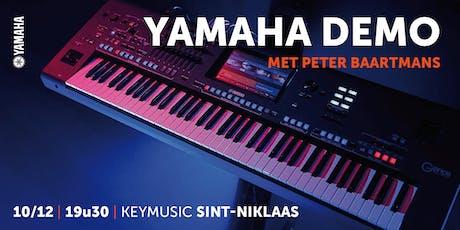 Yamaha Demo met Peter Baartmans tickets