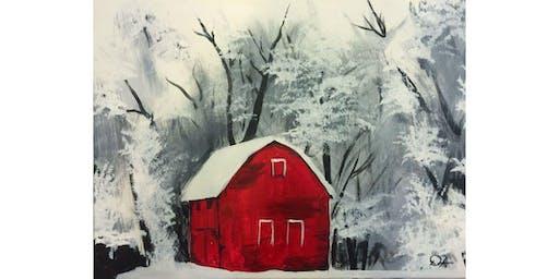 "Mimosa Class: ""Frozen Barn"", Sunday, Nov. 24th, 12:30PM, $25"