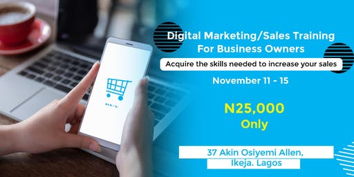 Digital/Sales Marketing Training In Allen, Ikeja Lagos.