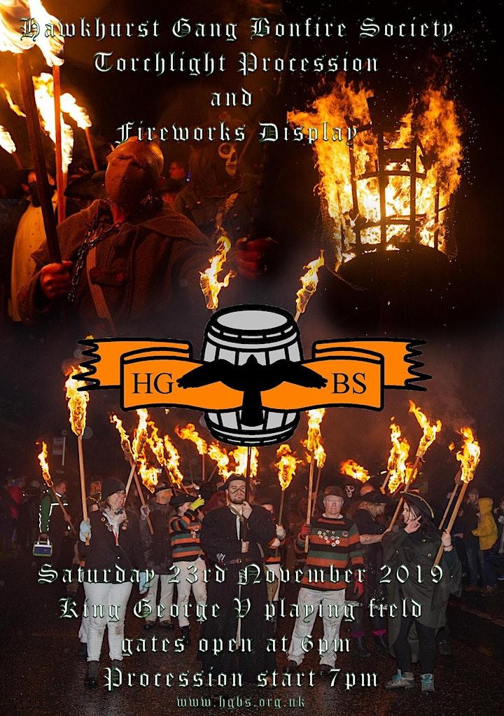 Hawkhurst gang bonfire night image