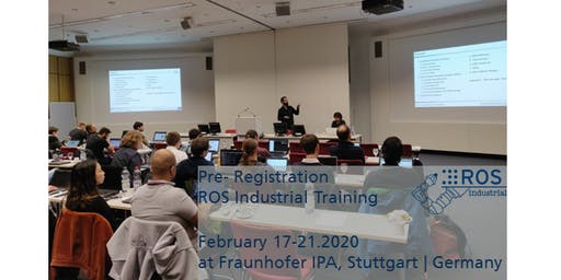 Pre-Registration for ROS-Industrial Training Feb 2020 (no ticket sale yet)