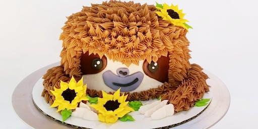 Adult/Child Cake Decorating Class (Sloth Cake)