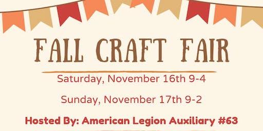 Northfield American Legion Auxiliary Fall Craft & Vendor Sale