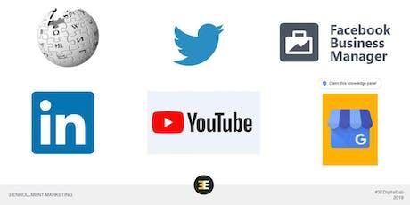 #3EDigital Lab: Using Social Media  To Improve Your Enrollment Marketing tickets