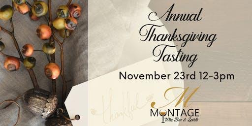 Annual Thanksgiving Tasting