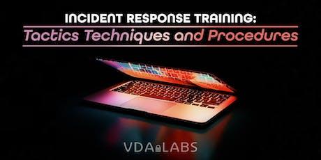 Incident Response Training: Tactics Techniques and Procedures tickets